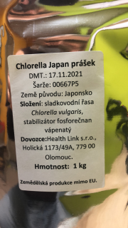 Chlorella prášok Japan 1kg Health Link